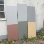 Färgprover för fasad